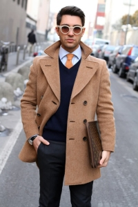 overcoat dressed down