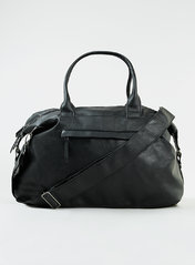 Topman Black Faux Leather Holdall Image Source: Shopstyle
