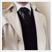 Look 4: Contrast Overcoat @broguesandbraces